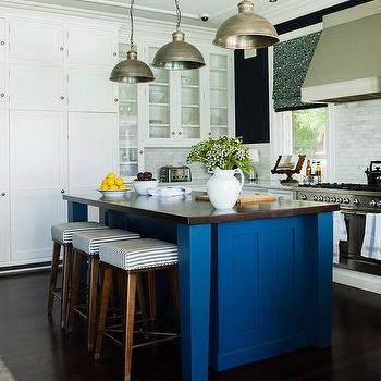 Kitchens Navy Blue Walls Design Ideas