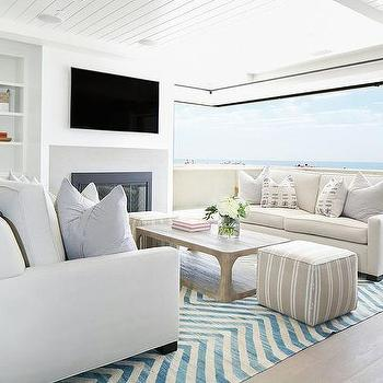 Open Beach Cottage Living Room