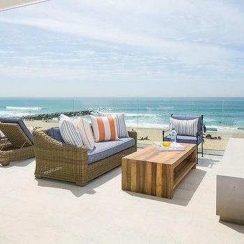 Seaside Patio With Wicker Lounges