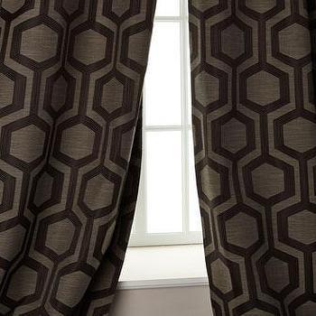 softline home fashions tribeca gun metal curtains