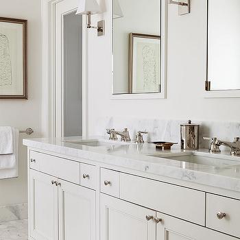 Cream Inset Cabinets Design Ideas