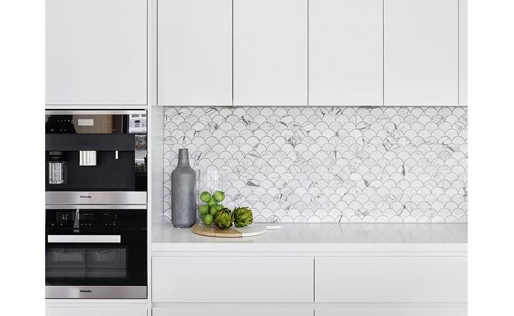fish scale tile backsplash design ideas