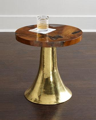 Noah Gold And Brown Side Table