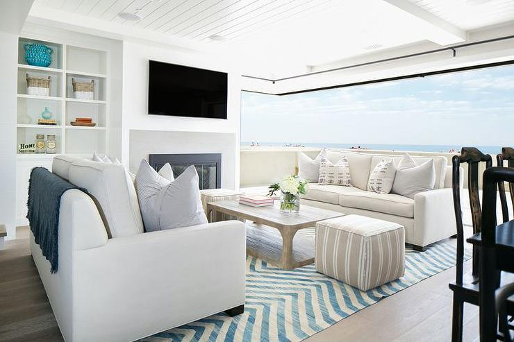 Kelly Nutt Design · Open Beach Cottage Living Room View Full Size