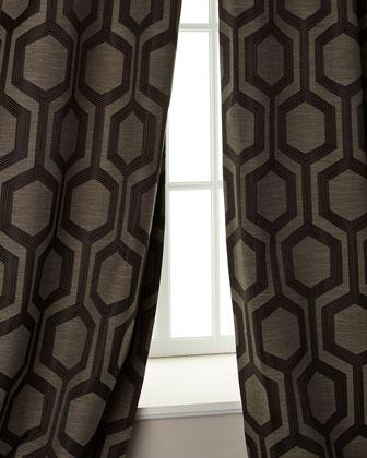 Softline Home Fashions Tribeca Gun Metal Curtains