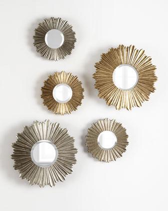 Decorative Gold Mirrors. Soliel Decorative Silver or Gold Mirrors