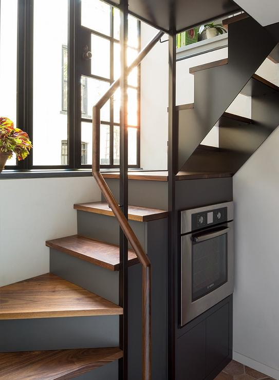 Under The Stairs Stove Contemporary Kitchen