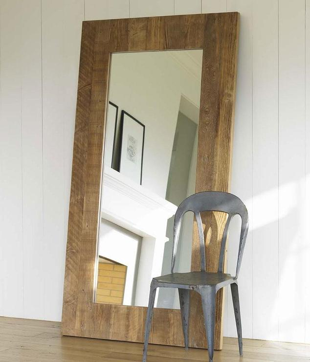 Classic Brown Floor Mirror