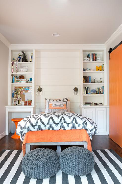 orange and gray boys bedrooms contemporary boy 39 s room