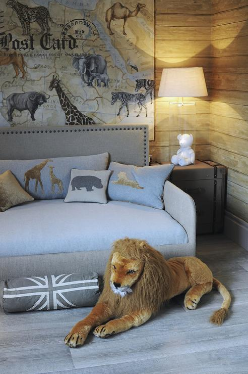 Safari Themed Boys Bedroom Transitional Boy S Room