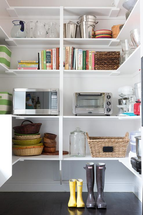 walk in pantry with wraparound shelves view full size - Walk In Pantry Design Ideas