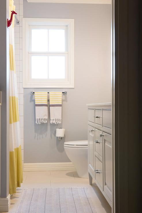 Bathroom Yellow And Gray yellow and grey kids bathroom - contemporary - bathroom