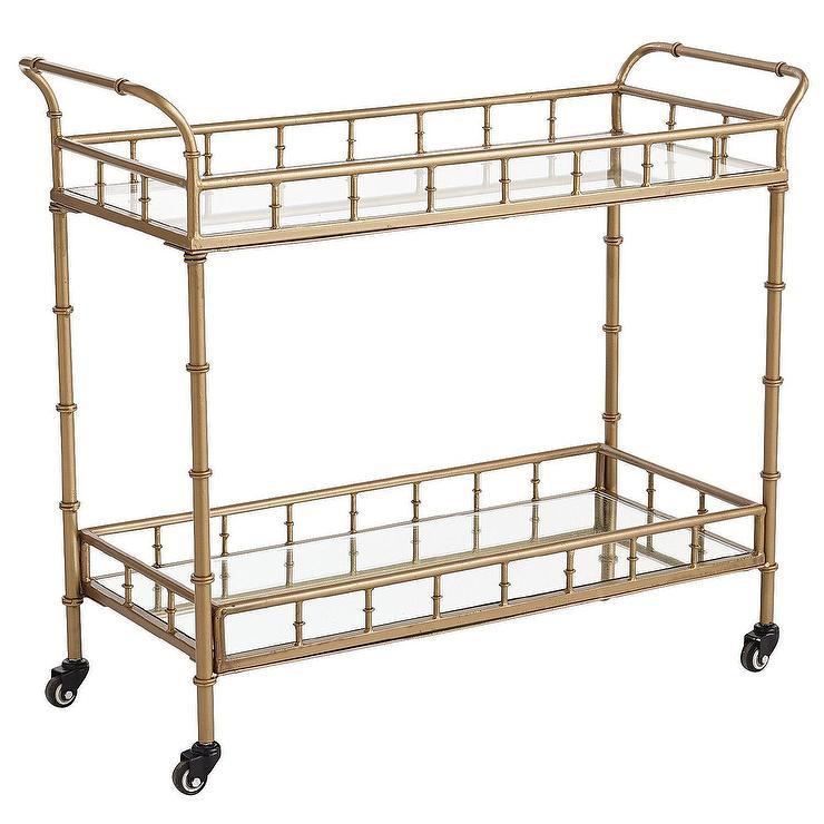 Lucette Gold Bar Cart