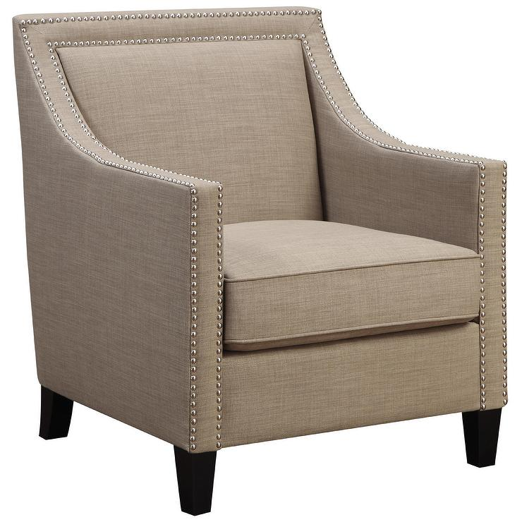 Art Van Lea Beige Accent Chair