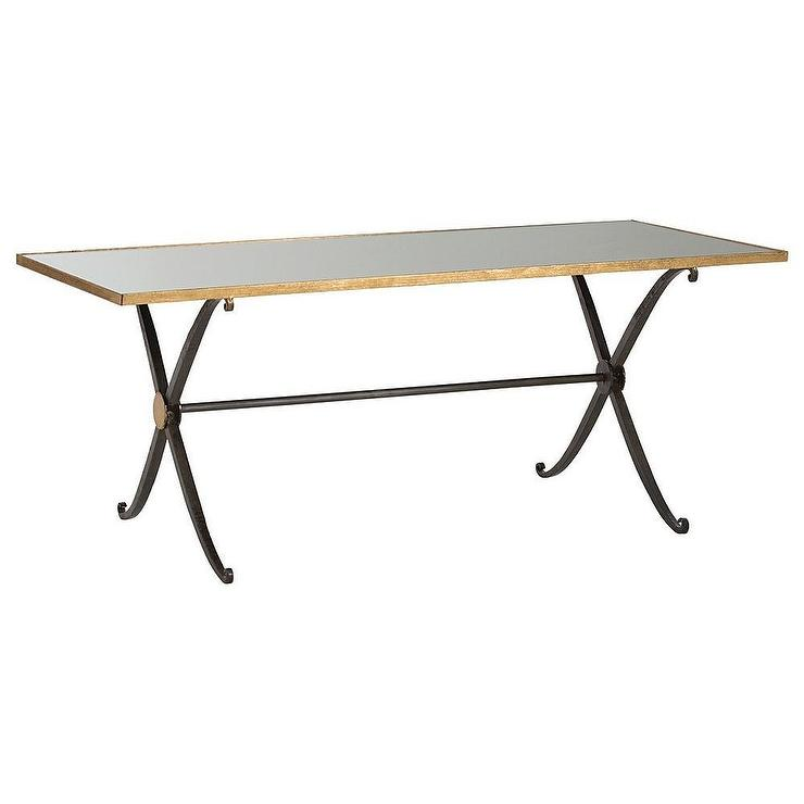 Charming Arteriors Home Hovan Gold And Black Coffee Table