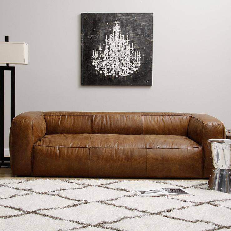 Diva Outback Bridle Brown Leather Sofa