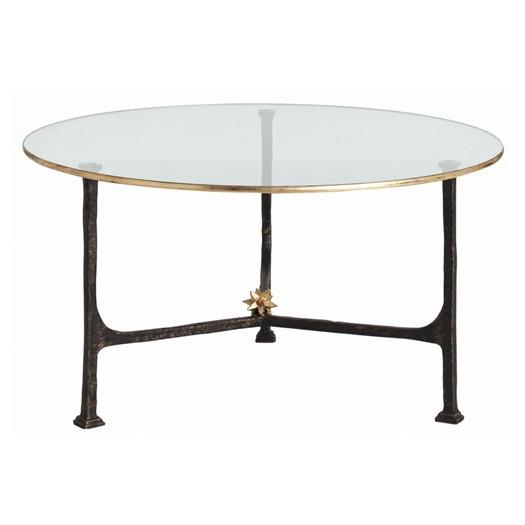 Brass and cream round cocktail table for Cream glass coffee table