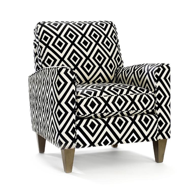 Homeware Cosgrove Black And White Arm Chair
