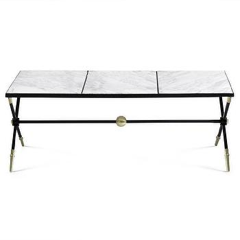 Bernhardt carnaby round metal cocktail table i Jonathan adler coffee table
