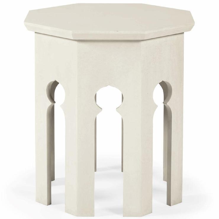 Bernhardt Granda Off White End Table