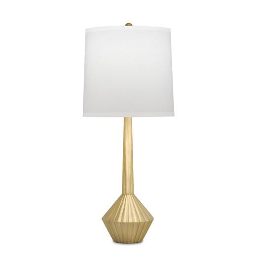 Gold table lamp with empire shade by remington lamp aloadofball Images