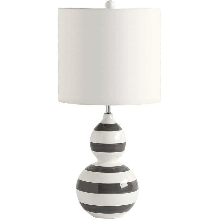 violi black and white table lamp with drum shade by mercana