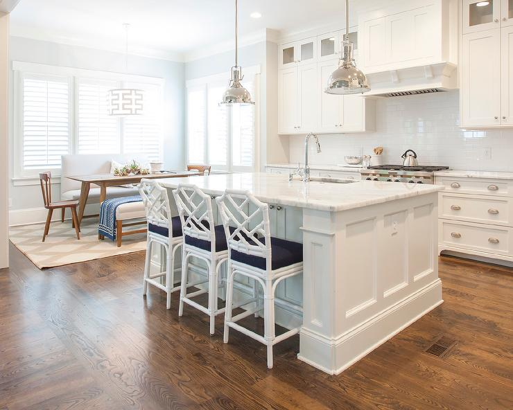 Navy Island White Marble Top Design Ideas