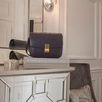 Mirrored Foyer Cabinet