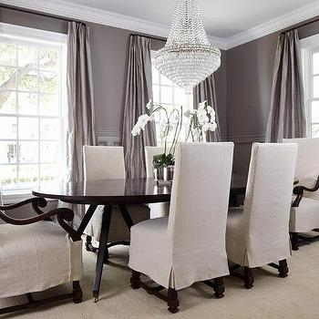 Gray Dining Room Wainscoting