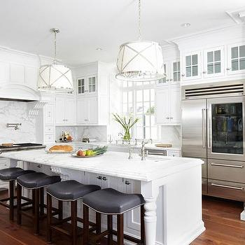 Kitchen Island With Columns gray kitchen island - contemporary - kitchen - summerour architects