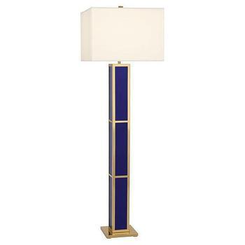 jonathan adler barcelona royal blue floor lamp - Gold Floor Lamp