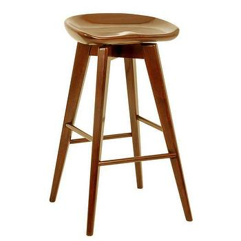 Hinkley Wood And Iron Swivel Bar Stool