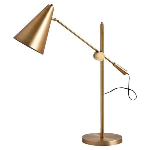 Mercana aaron gold table lamp aloadofball Image collections