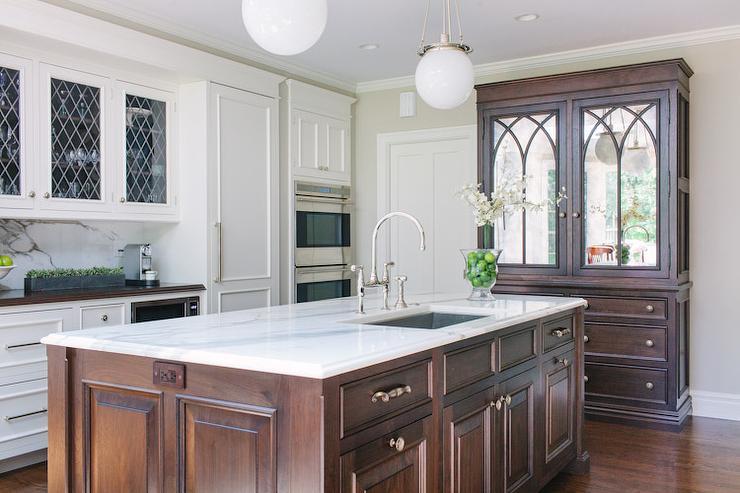 Mirrored Kitchen Hutch Design Ideas