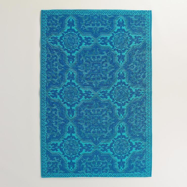 Mykonos Blue Sufi Tiles Rio Indoor Outdoor Mat