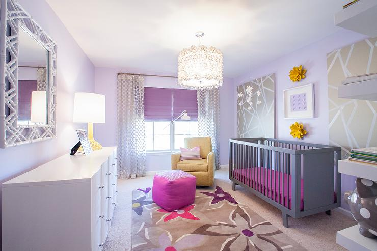 Purple And Grey Nursery Contemporary Nursery