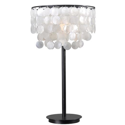 Shelley black table lamp with white novelty shade aloadofball Images