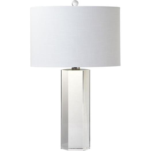 Exceptional Trophy White Table Lamp With Drum Shade