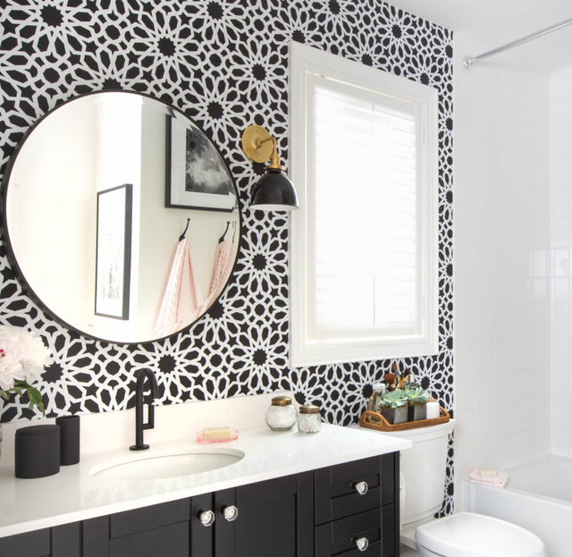 White Quartz Bathroom Counter black bathroom vanity with white quartz countertop - transitional