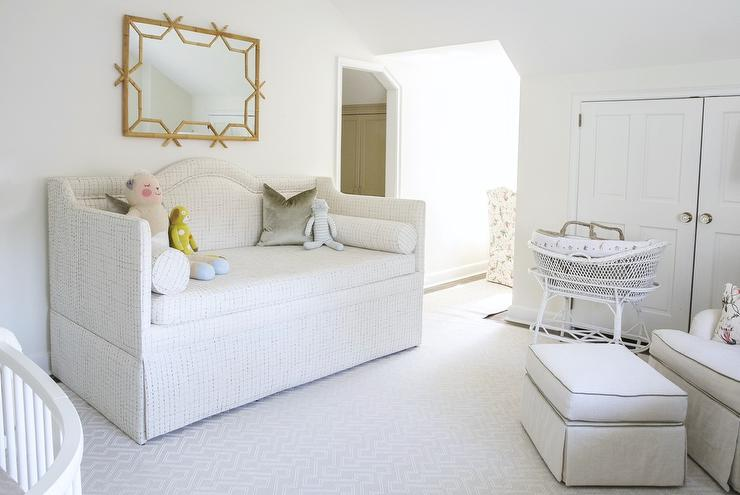 nursery with camelback daybed   transitional   nursery