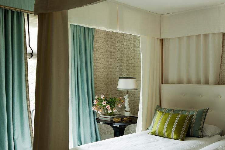 Bed With Valance And Curtains