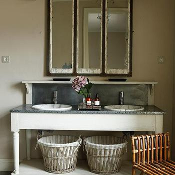 Bathroom Vanity With Zinc Countertop