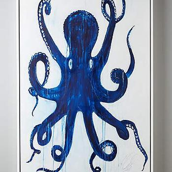 Pulpo Blue Wall Art