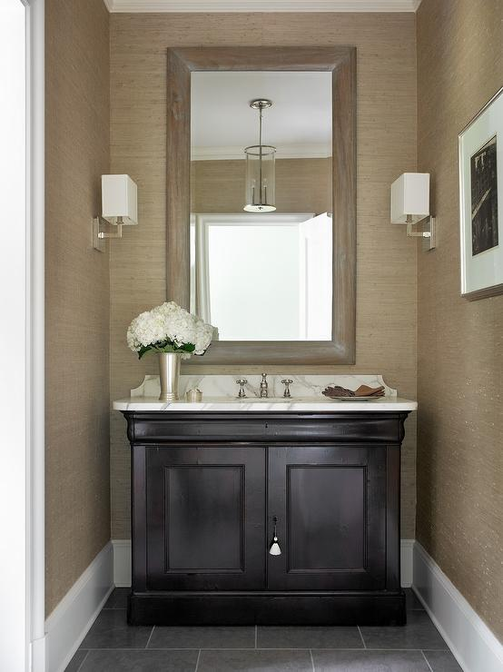 Taupe And Black Bathrooms Design Ideas
