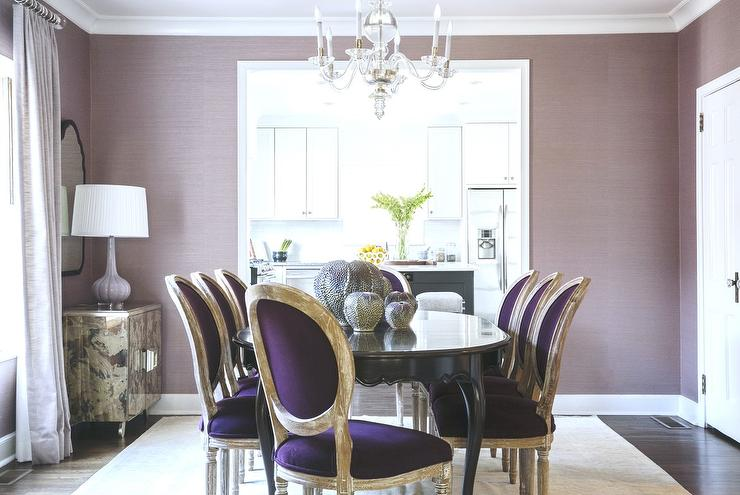 Purple Dining Rooms - Transitional - Dining Room