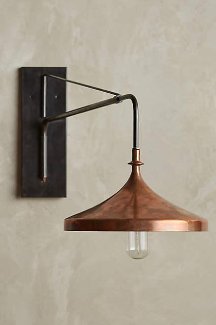 Wall Sconces Copper : Rochester Black Sconce