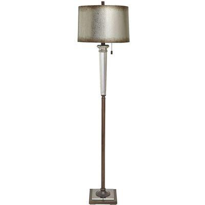 Isla silver and black floor lamp gabrielle silver floor lamp mozeypictures Image collections