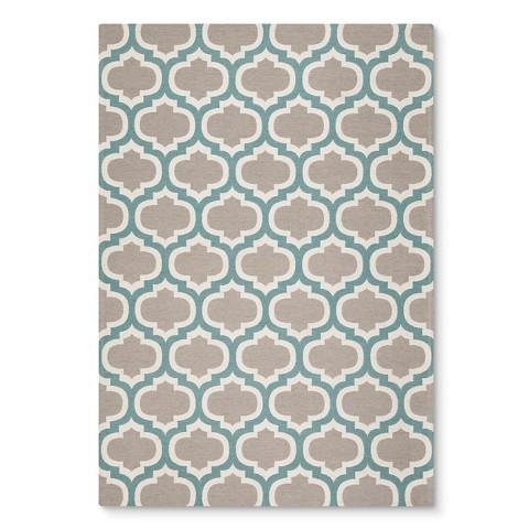 threshold indoor outdoor flatweave fretwork rug