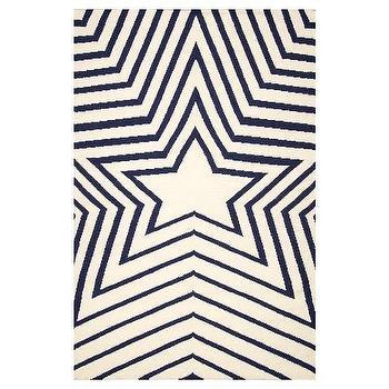 NuLOOM Black And White Star Kilim Rug