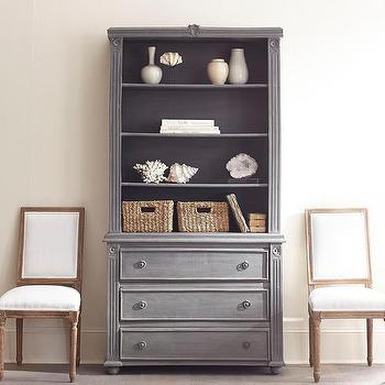 Gray Reclaimed Wood Bookcase
